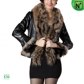Fur Trimmed Leather Jackets - m .cwmalls.com