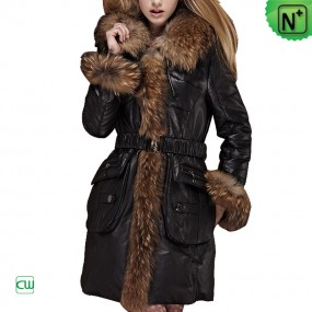 Women Fur Trim Coat m.cwmalls.com