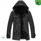 Mens Black Shearling Jacket CW851315