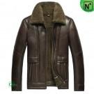 Brown Sheepskin Jacket Mens CW856113