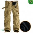 Mens Fleece Lined Cargo Pants CW100051