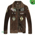 Mens Leather Flight Jacket CW850288