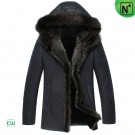 Mens Hooded Shearling Jacket CW851332