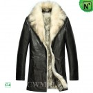 Fur Lined Leather Coat Jacket CW855418
