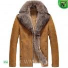 CWMALLS Mens Fur Shearling Jacket CW855489