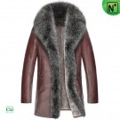 Brown Sheepskin Fur Coat CW852465
