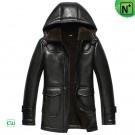 Hooded Shearling Sheepskin Jacket CW852512