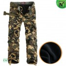 Lined Camo Cargo Pants for Men CW140052