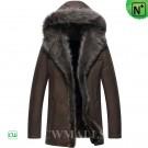 CWMALLS Mens Fur Coats with Hood CW852286