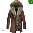 Fur Trimmed Shearling Parka CW855306