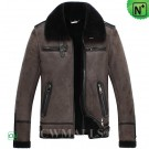 CWMALLS® Shearling Bomber Jacket Brown CW838023