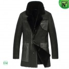 Leather Shearling Coat Mens CW851309