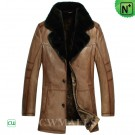 CWMALLS® Mens Shearling Leather Coat CW857015