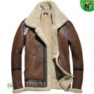 CWMALLS® Shearling Leather Moto Jacket CW858205
