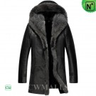 Hooded Shearling Parka for Men CW855309