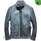 CWMALLS® Men Sheepskin Biker Jacket CW858206