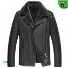 Sheepskin Leather Jacket Black CW852202