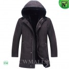 CWMALLS® Sheepskin Leather Parka Brown CW836052