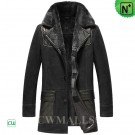 CWMALLS® Men Shearling Leather Coat CW855568