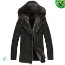 Hooded Sheepskin Winter Jacket CW851337