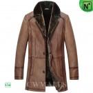 CWMALLS® Vintage Shearling Coat Mens CW857019